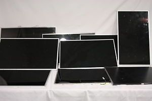 "Lot 9 Broken Laptop LCD Screens Monitors 14"" 15"" 17"" for Repair or Gold Scrap"