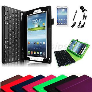 Bluetooth Removable Keyboard Case Cover Accessories for Samsung Galaxy Tab 3 7 0