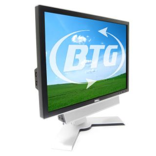 "Dell 2208WFP 22"" Flat Panel LCD Monitor Height Adjustable Stand DVI VGA USB"