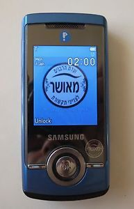 Samsung SGH A777 Blue Kosher Locked Cellular Cell Phone Slider 3G Bluetooth GSM