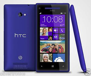 New HTC 8x Windows Smartphone Phone 16GB GSM Unlocked Blue T Mobile Good IMEI
