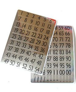 Silver Numbers Round 1 100 Self Adhesive Labels Stickers 13mm x 12mm