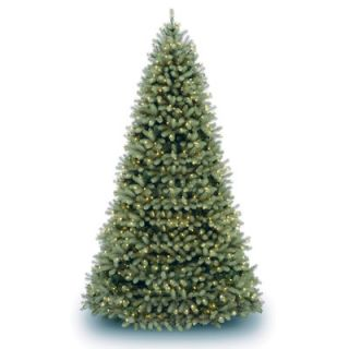 National Tree Co. Douglas Fir Downswept 10 Green Artificial Christmas Tree with Clear Lights with Stand