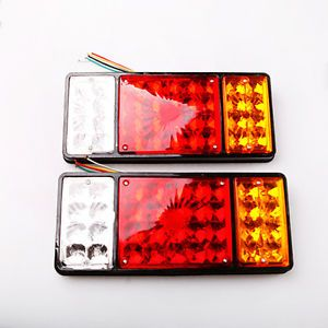 2X LED Tail Lights Lamp Car Boat Vehicle Truck Trailer 12V 24V Bright Light Lamp