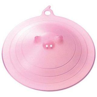 "8 75"" Large Piggy Microwave Plate Cover Vented Lid Splatter Guard Pink Pig Q367P"