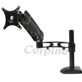 "Gas Assisted Adjustable LCD TV Monitor Desk Mount 15 17 19 21 22 23 24 26"" M20"