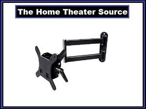 "Articulating Arm Wall Mount Bracket for 17""19""21""23""24""inch LCD LED TV Fits Vesa"