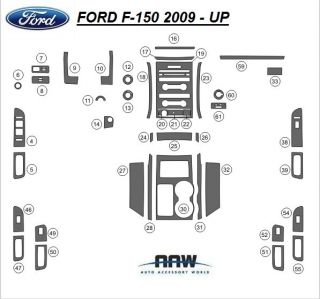 Ford F 150 F150 XL XLT STX Interior Wood Dash Trim Kit Set 2009 2010 2011 2012