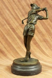 Signed Original Milo Abstract Modern Art Female Bronze Sculpture Statue Figurine