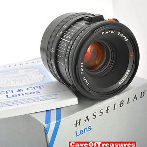 Mint Boxed Hasselblad 80mm CFE Planar 2 8 Lens Caps Manual Filter Warranty NoRes