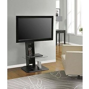 Modern TV Entertainment Stand Media Center Console Black Storage Cabinet for 50