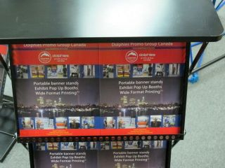 Trade Show Table Top Counter Brochure Rack Stand Kiosk
