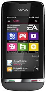 Nokia RM 714 Asha 311 Dark Grey Unlocked Quad Band GSM 3G Sim Free Cell Phone