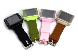 Pink 8GB Unlocked Touch Screen Digital Watch GSM Mobile Phone Spy Camera