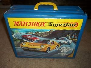 Vintage Matchbox Superfast 72 Car Carry Case Deluxe Collector's Case 1970 Lesney