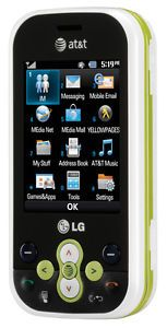 New LG Neon GT365 Green GSM Unlocked Cell Phone QWERTY Keyboard Tmobile at T