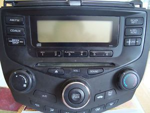 03 07 Honda Accord Sedan CD Player Radio 2AC0
