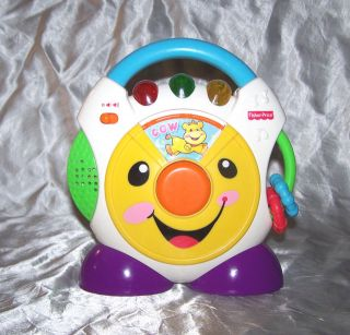 Fisher Price Nursery Rhymes CD Player 2005 Lights Music Animals Sounds Baby Toy