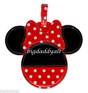 New Disney World Minnie Mouse Luggage Bag Tag Suitcase