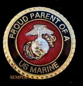 Proud Parent of A US Marine Pin Boot Camp MCRD Dad Mom Promotion Graduation WOW