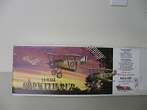 Balsa USA 1 6 Scale Sopwith Pup Radio Controlled Model Airplane Kit