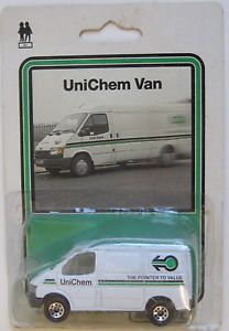 1987 Matchbox MB60 Ford Transit Van Unichem UK Delivering Medicines Faster