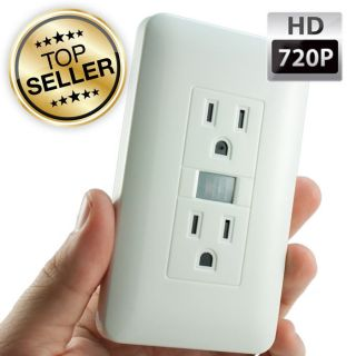 720P HD Motion Activated Electrical Outlet Hidden Camera Spy Nanny Cam