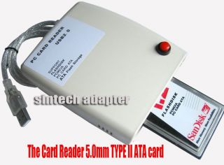 ATA PCMCIA Flash Disk Memory Card Reader CardBus to USB 2 0 Adapter Converter