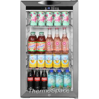 Commercial Stainless Steel Mini Glass Door Refrigerator Compact Reach in Fridge