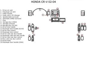 Honda CR V CRV EX LX SE Interior Wood Dash Trim Kit Set 2002 2003 2004 2005 2006