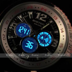 New 30M Water Hand Clock LCD Digital Hours Men Rubber Black Wrist Watch WE128