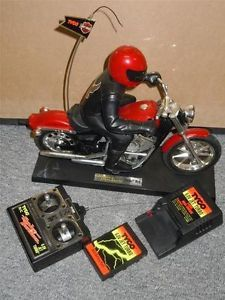 "Tyco 11"" RC Harley Davidson Motorcycle Remote Control Vehicle w Remote Battery"