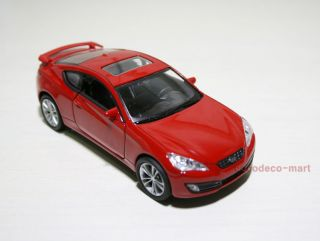 Hyundai Genesis Coupe Diecast Model Car Miniature Minicar Pullback Wheel Red