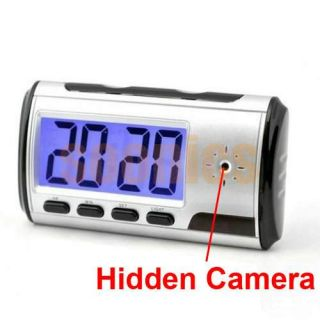 Wireless Spy Alarm Clock Pinhole Hidden Camera USB Recorder Camcorder DVR DV Cam