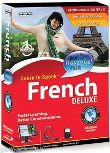 Learn to Speak French 10 Deluxe PC Language Software Brand New SEALED Box