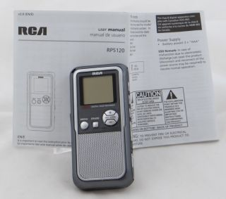 RCA Digital Voice Recorder RP5120 A 256M w Manual Voice Activated w USB Handheld