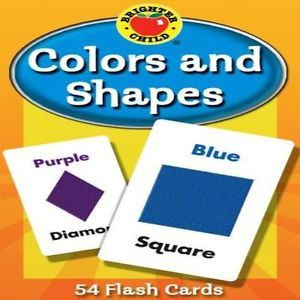 Colors and Shape Kids Toddler Flash Cards Learning