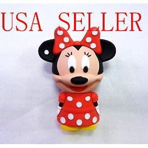 8 GB Cute Mickey Mouse Minnie USB Flash Drive Memory Stick Pen Thumb Red