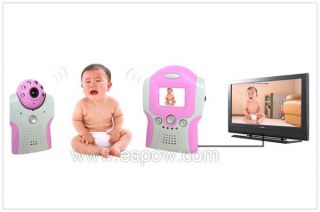 2 4GHz Wireless Video Baby Security Monitor Camera Pink