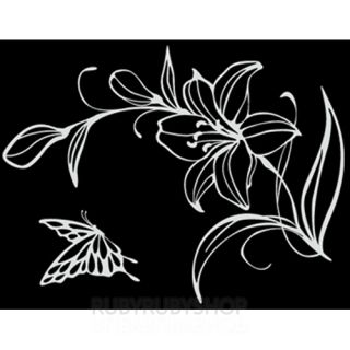 GPS 028 Lily Flower Graphic Wall Art Decor Decals Sticker