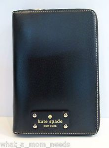 New Kate Spade Wellesley 2014 Black Zip Around Personal Planner Organizer