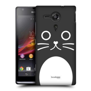 Head Case Cartoon Animal Face Design Back Case Cover for Sony Xperia SP C5303