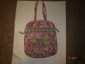 Vera Bradley Pink Green Paisley Tote Bag Laptop Bag