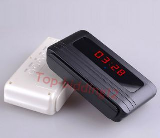 720P Digital Alarm Clock Spy Camera Security Hidden DVR Camera Motion Detector