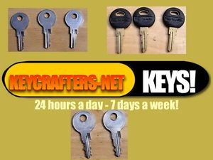 Keys of All Types to Fit Office Equipment Truck Toppers Tool Boxes T Handles