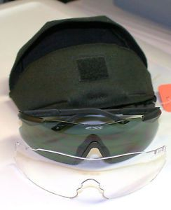 New ESS Ice 2X Interchangeable Set Ballistic Safety Sun Shooting Glasses Kit