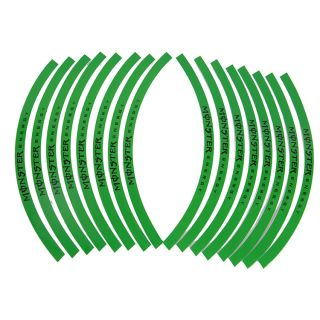 New 10'' 12''Car Motorcycle Wheel Rim Stripe Tape Stickers Decal Green
