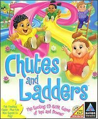 Chutes and Ladders PC CD Circus Zoo Playground Themed Kids Computer Board Game