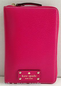 New Kate Spade Wellesley 2014 Pink Zip Around Personal Planner Organizer