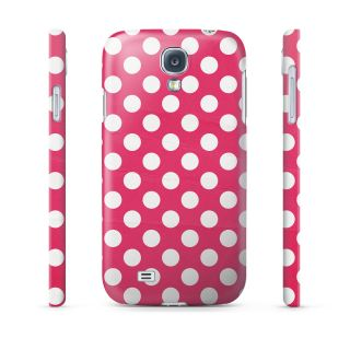 Polka Dots on Hot Pink Hard Cover Case for iPhone Samsung 65 More Phones